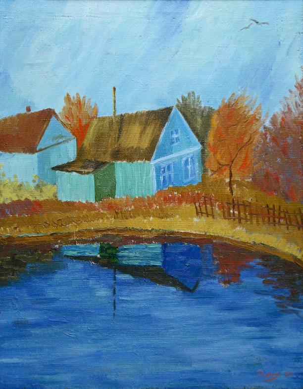 Пейзаж (посвящение Ван-Гогу) / Landscape dedication to Van Gogh