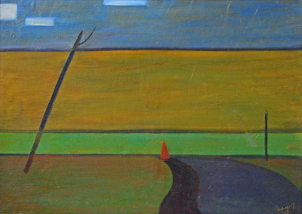 Пейзаж с красной фигурой / Landscape with a red figure